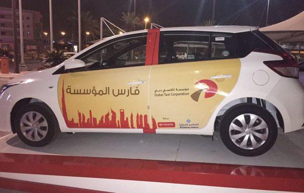 Dubai Taxi Vehicle Branding