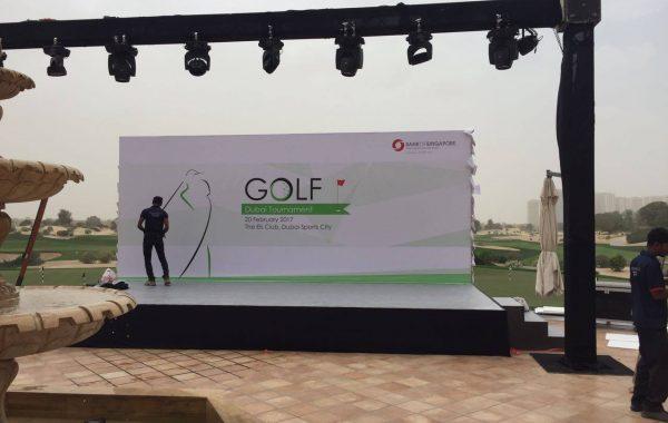 Golf Tournament Stage Branding
