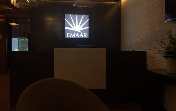 Emaar Frosted sticker and 3D sign