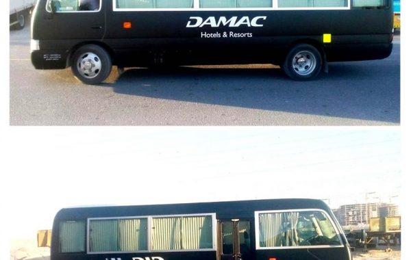Vehicle Branding for DAMAC