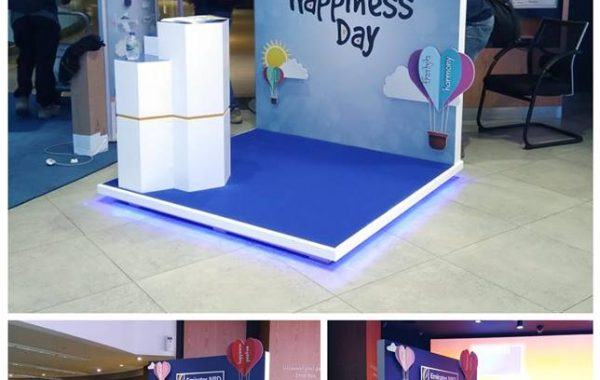 ENBD cutout ,kiosk  for Happiness day