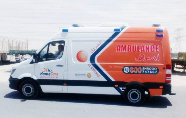 Ambulance Branding for Al Shorooq –